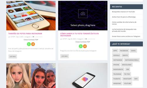Desarrollo y Diseño Web Cosas Curiosas TOP